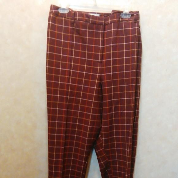 0b034380f7 Cato Pants | Plus Size Pleated Maroon Pin Striped | Poshmark